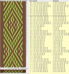 32 tarjetas, 4 colores, repite cada 40 movimientos // sed_186a diseñado en GTT༺❁