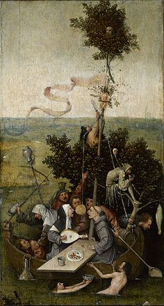 Hieronymus Bosch - The Ship of Fools (Louvre Museum) ヒエロニムス・ボス Renaissance Kunst, Arte Tribal, Garden Of Earthly Delights, Dutch Painters, Medieval Art, Fine Art, Old Master, Triptych, Oeuvre D'art
