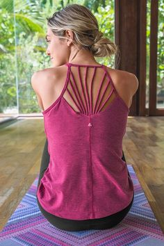 Stylish, strappy yoga and bra tops that support you in every way imaginable.