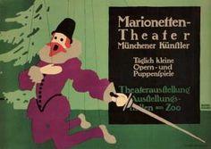 Lucian Bernhard - Marionetten-theater. 1910.