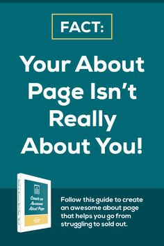 Your about page isn't about you...say what? Learn exactly what you should include on your website's about page with this handy (free) guide. Pin for later.