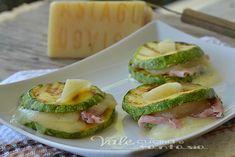 Zucchine grigliate con prosciutto cotto e Asiago