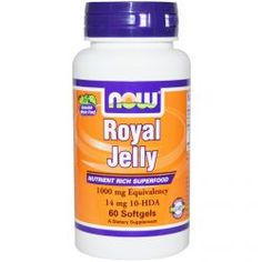 Now Foods, Royal Jelly, 1000 Mg, 60 Softgels, Diet Suplements 蛇