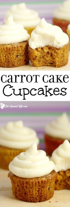 Carrot Cake Cupcakes Recipe with cream cheese frosting - Homemade carrot cake cupcakes recipe from scratch. Delicious and moist and truly the best I've ever had.