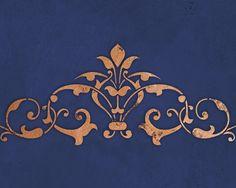 Stencil esotico marocchino Center di di royaldesignstencils