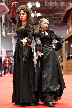 Bellatrix Lestrange and Narcissa Malfoy