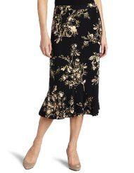 Alfred Dunner Womens Novelty Print Skirt