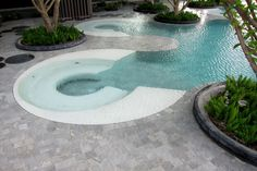 Pool at Hilton Hotel, Pattaya, Thailand. Love the design!