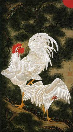 伊藤若冲  .... ITO , .JAKUCHU ....  3/2/1716 -- 10/27/1800 ....