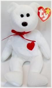 Bear Valentino Ty Beanie Baby New Condition 1993, 1994 Tags by BusyQueen