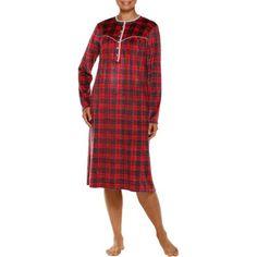c1d846ea0 Secret Treasures - Women's Long Sleeve Wide Neck Sueded Fleece Sleep Gowns ( Size S-4X) - Walmart.com
