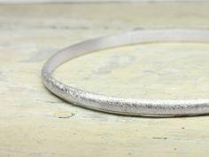 Silberarmbänder - Armreif 925 Silber HALBRUND 4mm x 2mm - ein Designerstück von schmucke-sachen bei DaWanda