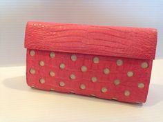 Nancy Gonzalez Crocodile Dot Clutch Bag #NancyGonzalez #Clutch