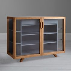 Buy Case Vitrina Small Sideboard from our Cabinets & Sideboards range at John Lewis & Partners. Ikea Furniture, Furniture Styles, Furniture Making, Modern Furniture, Industrial Design Furniture, Furniture Design, Small Sideboard, Shelving, Cabinets