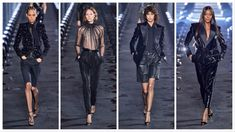 Saint Laurent Ready to Wear – Spring 2020 - Glam News Magazine Amber Valletta, Liya Kebede, Charlotte Gainsbourg, Catherine Deneuve, News Magazines, Naomi Campbell, Kate Moss, Ready To Wear, Leather Pants