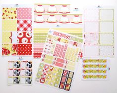VGR August Monthly Planner Set for Erin Condren and Plum Paper Planners