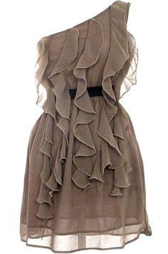 Mocha Frills Dress