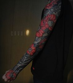"PrimalAttitude.com on Instagram: ""It's #LazySunday over here @PrimalAttitude Up first is this awesome #fullsleeve #blackedout #Tattoo from @gakkinx done #freehand .... #amazingtattoo #PrimalAttitude #TattooArtists #Sunday #Blackouttattoos #awesometattoos #Sleeves #fullsleevetattoo #Tattoos #TattooArtist #nostencil"""