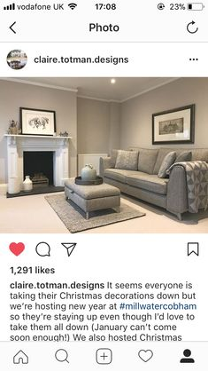 Living Room Decor Cozy, Living Room Paint, Living Room Grey, Home Living Room, Interior Design Living Room, Living Room Designs, Bedroom Decor, Snug Room, Grey Lounge