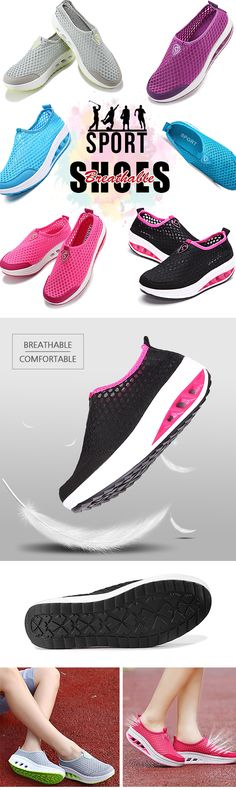US$23.99+Free shipping. Women Shoes, Women Summer Shoes, Casual Shoes, Sport Shoes, Outdoor Shoes, Mesh Shoes. Round Toe, love this Comfortable and Breathable shoes, Color: Black, Purple, Blue, Gray, Rose Red. Size(US): 5-10.