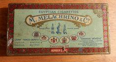 M. Mekachrino & Co Egytian Cigarettes tin number by BandCEmporium