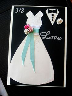 Easy and nice weddingcard