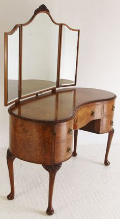 large vintage kidney shape dressing table uk - Google Search