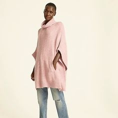 Women's New Arrivals | J.Crew Winter Sweaters, Fall Looks, Sweater Outfits, J Crew, Bell Sleeve Top, Normcore, High Neck Dress, Tunic Tops, Turtle Neck