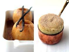 Roasted Apple and Vanilla Bean Souffle