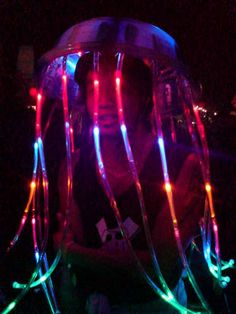 LED Jellyfish Costume... I need to make this for Wakarusa!!!