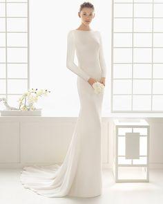 DYLAN traje de novia en crep.