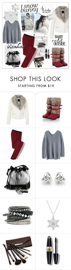 """""""Winter FUN in a Snow Bunny Style"""" by fashiontake-out ❤ liked on Polyvore featuring Icebreaker, Balmain, Carianne Moore, Georgini, H&M, Borghese, Max Factor and snowbunny"""