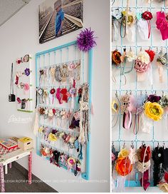 photographers headband organization using a crib | Leigh Roth Photography