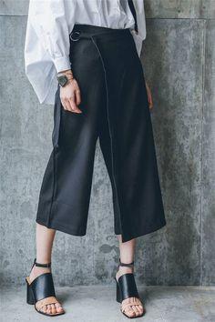 Oversized Wrap Skirt Pants