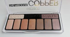 Catrice Cosmetics The Precious Copper Collection palette Swatch, Palette, Copper, Eyeshadow, Cosmetics, Face, Beauty, Collection, Products