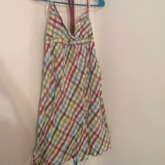 Multi color halter top. Size Medium Multi color halter top. Size Medium. Open to offers if interested Dresses Backless