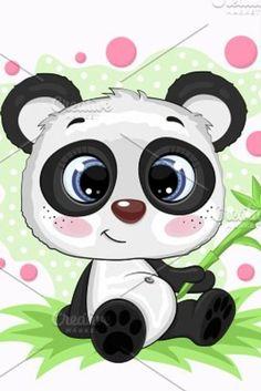 Graphics Fairy, Free Graphics, Cartoon Panda, Cute Cartoon, Editor Photoshop, Scroll Saw Patterns, Graphic Illustration, Illustrations, Cute Panda