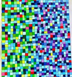"""""""It's Hip to be Square."""" Painting so many squares made me cross eyed! Acrylics on canvas. #painting #art #artist #handpainted #colorful #designs #squares #cubes #canvas #canvasart #charlestonartist #colorful #designs #artoftheday #paintingoftheday #affordableart"""