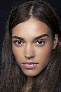 "Really pretty ""no makeup"" makeup look! Use a cream highlighter over bridge of nose, cupids bow, under eyes and on forehead to accent your natural beauty!"