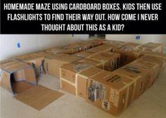 Fun Activities For Kids - Cardboard Box Maze | DIY Tag