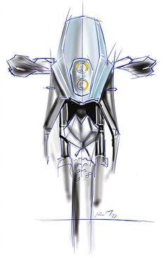 custom KTM Motorcycle design Sketch by Radek Micka