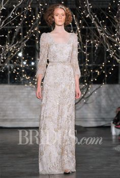"Brides.com: Wedding Dresses with Long Sleeves from the Bridal Runways. ""Lucy,"" Jenny PackhamSee more Jenny Packham wedding dresses."