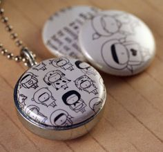 Picture Locket  Share Magnetic LOCKET Set by Yaelfran by polarity, $24,00