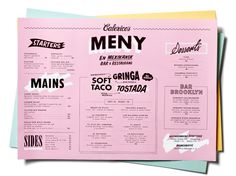 Best of Art of the Menu No. 3 - Calexico's Mexican in Stockholm, Sweden