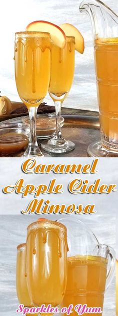Caramel Apple Cider Mimosa Caramel Apple Cider Mimosa - Whatever get., Caramel Apple Cider Mimosa Caramel Apple Cider Mimosa - Whatever get. Apple Cider Cocktail, Cider Cocktails, Spiced Apple Cider, Brunch Drinks, Fall Drinks, Holiday Drinks, Mimosa Brunch, Mimosa Bar, Brunch Punch