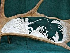 'The Fisherman's Dream' by Cathy Mark (carved moose antler)