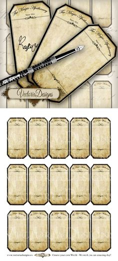 Printable Blank Apothecary Labels by VectoriaDesigns.deviantart.com on @deviantART