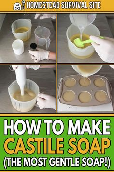 Soap Making Recipes, Homemade Soap Recipes, Castile Soap Recipes, Castile Soap Uses, Homemade Body Butter, Homemade Beauty Products, Diy Cleaning Products, Bath Products, Natural Products