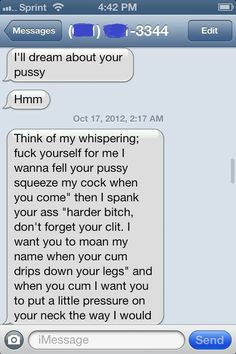 Real dirty text messages