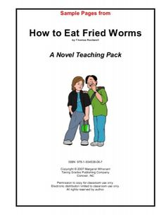 How to Eat Fried Worms - Taking Grades Publishing Read more about worms, novel, whisnant, activities, copyright and rockwell.